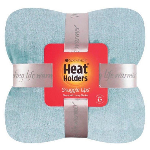 HEAT HOLDERS Luxury Fleece Blanket / Throw ... Duck Egg