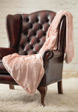 Load image into Gallery viewer, Heat Holders Snuggle Thermal Luxury Fleece Blanket / Throw 1.6 Tog ... Dusky Pink