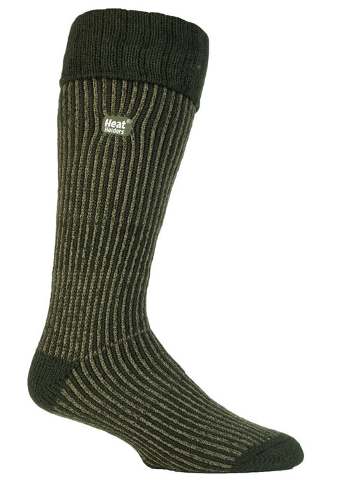 Mens Heat Holders Boot Socks - Forest Green