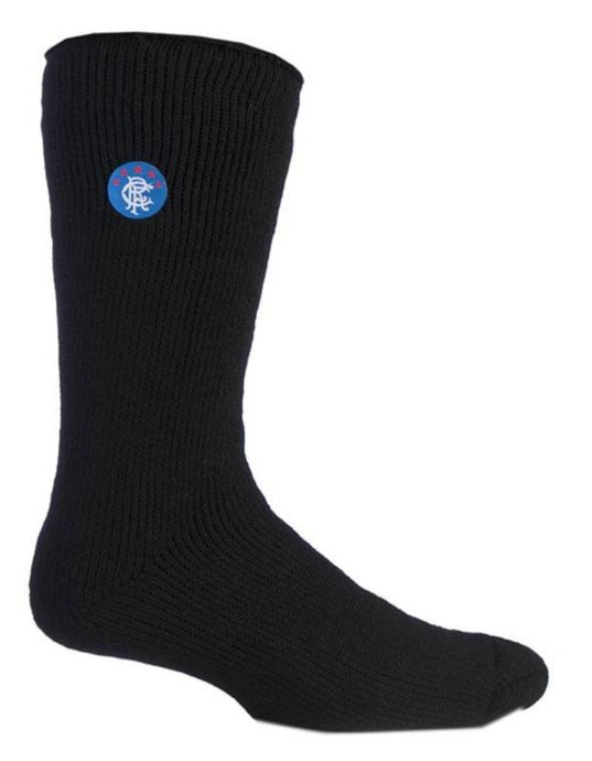 Mens Big Foot Heat Holders Rangers Design Socks 12-14 UK 46-50 EUR