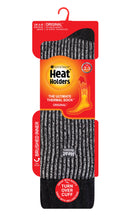 Load image into Gallery viewer, Ladies Heat Holders Boot Socks - Black