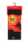 Ladies HEAT HOLDERS Thermal Footless Tights Black