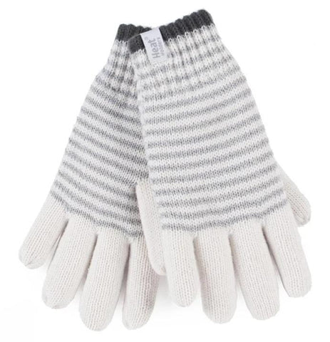 Ladies Heat Holders Heatweaver Thermal Oslo Gloves - Cream / 2 Sizes