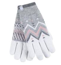 Load image into Gallery viewer, Ladies Heat Weaver Heat Holders Gloves LODORE - Grey/Cream, 2 Sizes