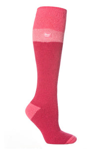 Ladies Heat Holders Ski Socks 4-8 UK 37-42 EUR - Pink Light Pink Raspberry