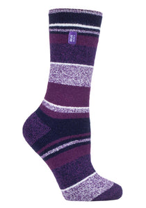 Ladies LITE Heat Holders Socks 4-8 UK 37-42 EUR ENCHANTED Stripe
