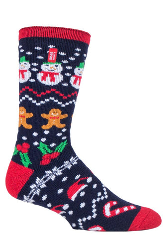Mens Christmas LITE Heat Holders  FESTIVE FUN Edition  Socks 6-11 UK 39-45 EUR