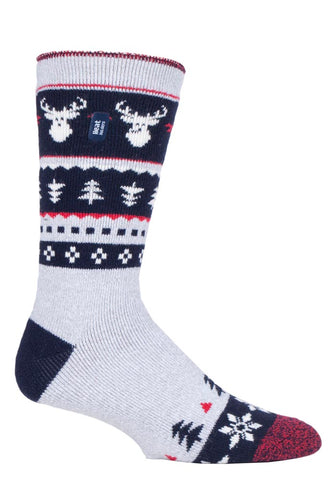 Mens Christmas LITE Heat Holders  STAG Edition  Socks 6-11 UK 39-45 EUR