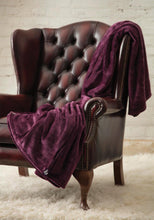 Load image into Gallery viewer, Heat Holders Snuggle Thermal Luxury Fleece Blanket / Throw 1.6 Tog ... Mulled Wine