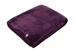 Heat Holders Snuggle Thermal Luxury Fleece Blanket / Throw 1.6 Tog ... Mulled Wine