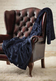 HEAT HOLDERS Luxury Fleece Blanket / Throw ... Navy