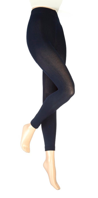 Ladies Heat Holders Thermal Leggings /  Footless Tights, Navy,  4 Sizes