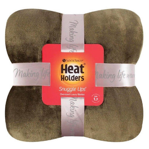 Heat Holders Snuggle Thermal Luxury Fleece Blanket / Throw 1.7 Tog ... Olive
