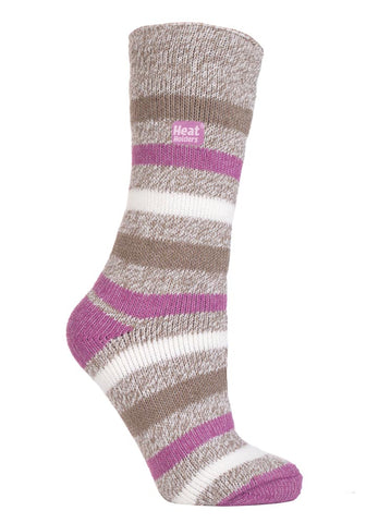 Damen HEAT HOLDERS Twist Stripe Socken