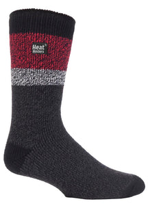 Mens Heat Holders Fashion Twist Socks (6-11, PENRITH)