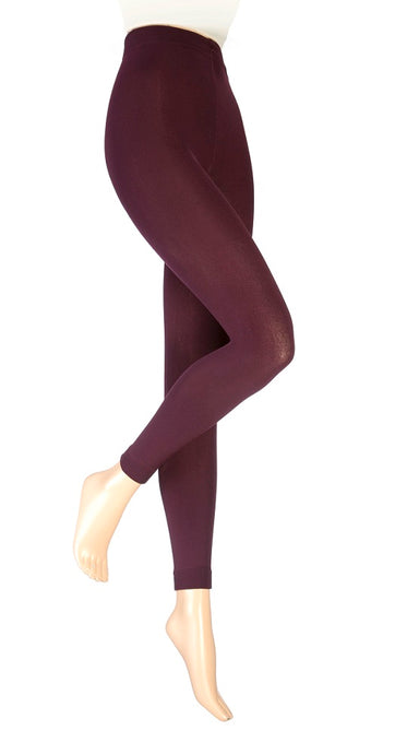 Ladies Heat Holders Thermal Leggings /  Footless Tights, Purple,  4 Sizes