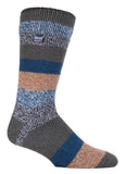 Mens HEAT HOLDERS Block Twisted Stripe Socks