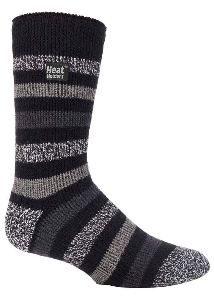 Mens Heat Holders Fashion Twist Socks (6-11, ROCKCLIFFE )