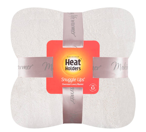 Heat Holders Snuggle Thermal Luxury Fleece Blanket / Throw 1.7  Tog ..White Sand