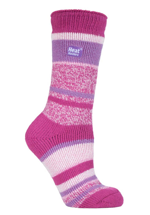 Ladies Heat Holders  4-8 UK 37-42 Eur Multi Twisted Stripe Bosworth
