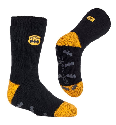 Kids Batman Heat Holders Slipper Socks