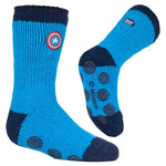 Kids Captain America Heat Holders Slipper Socks 2 Sizes