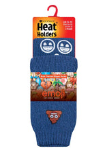 Load image into Gallery viewer, Kids Emoji Poo Face Heat Holders Slipper Socks 2 Sizes