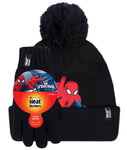 Kids HEAT HOLDERS  Licensed SPIDERMAN Hat & Gloves