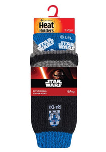SPECIAL OFFER ... 3 Pairs STAR WARS Kids Heat Holders Thermal Licensed  Character Slipper Grip Socks 2 sizes