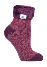 Load image into Gallery viewer, Ladies Heat Holders Lounge Socks 4-8 UK 37-42 EUR Twist Coral