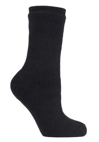 Ladies Heat Holders Outdoor Waterproof Socks 4-8 UK 37-42 EUR Black