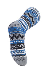 Load image into Gallery viewer, Mens SOUL WARMING Dual Layer Heat Holders Slipper Socks 6-11 UK 39-45 EUR Grey / Denim