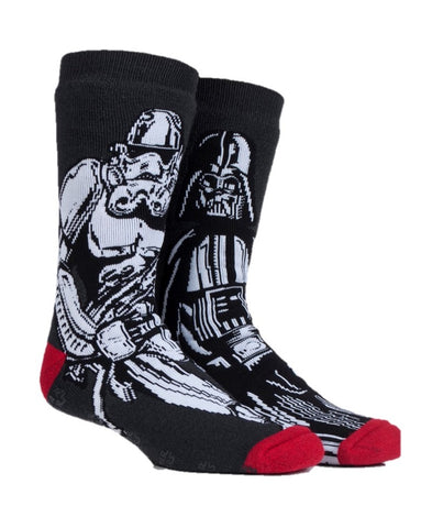 Mens HEAT HOLDERS DARTH & STORM Dual Layer Slipper Socks