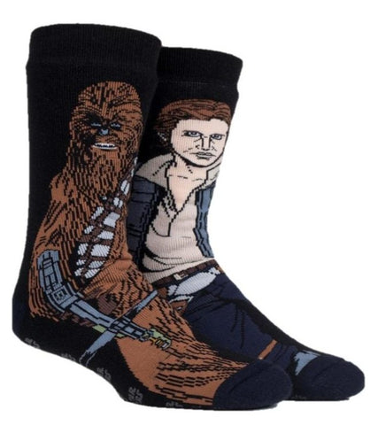 Mens Star Wars CHEWBACCA / HAN SOLO Dual Layer Heat Holders Slipper Socks 6-11 UK 39-45 EUR