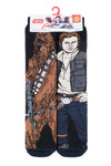 Mens HEAT HOLDERS Chewbacca / Han Solo Dual Layer Slipper Socks