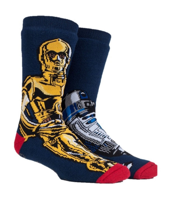 Mens Star Wars C3PO / R2D2 Dual Layer Heat Holders Slipper Socks 6-11 UK 39-45 EUR