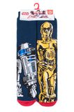 Mens HEAT HOLDERS C3PO / R2D2 Dual Layer Slipper Socks
