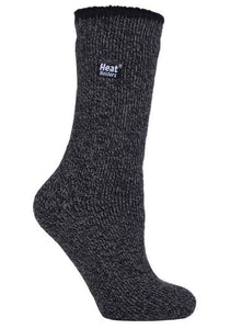 Ladies Outdoors MERINO BLEND Heat Holders Socks  with Reinforced Heel & Toes  4-8 UK, 37-42 EUR  BLACK