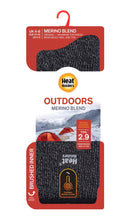 Load image into Gallery viewer, Ladies Outdoors MERINO BLEND Heat Holders Socks  with Reinforced Heel & Toes  4-8 UK, 37-42 EUR  BLACK