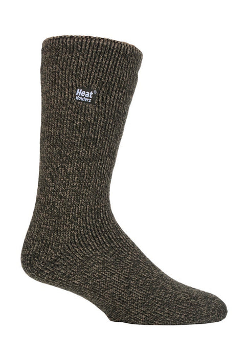 Mens Outdoors MERINO BLEND Heat Holders Socks  with Reinforced Heel & Toes  6-11 UK 39-45 EUR KHAKI
