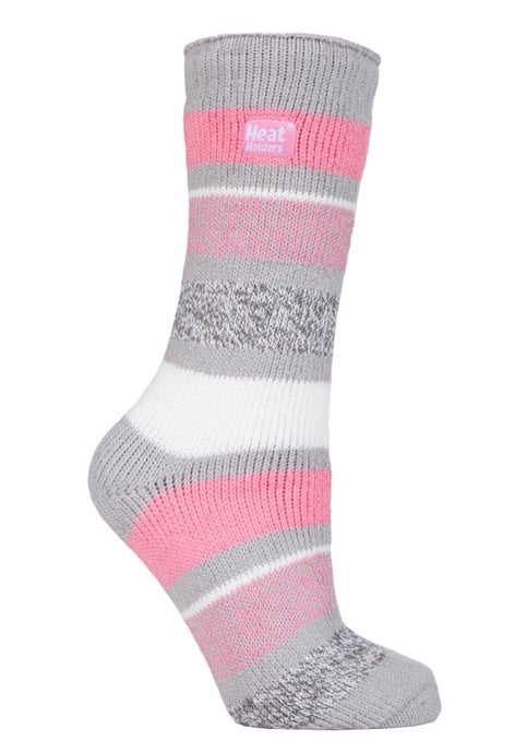 Ladies Heat Holders 4-8 UK 37-42 EUR Twist Stripe Day Dreamer