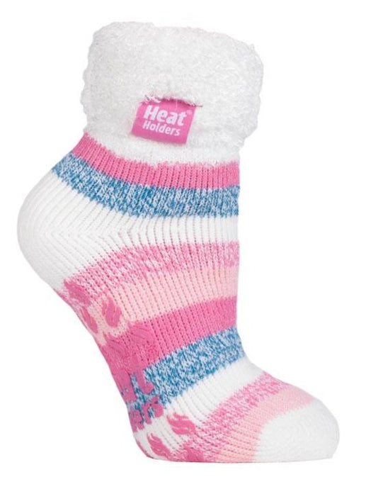 Ladies Lounge Socks 4-8 UK 37-42 EUR Stripe Harrogate