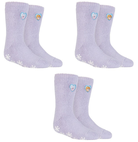SPECIAL OFFER ... 3 Pairs Kids HEAT HOLDERS Frozen Princess Slipper Socks