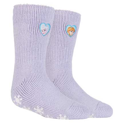 Kids Frozen Princess Heat Holders Slipper Socks 2 Sizes