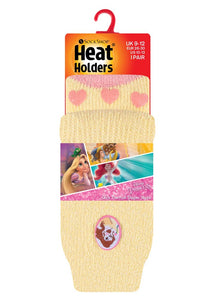 Kids Beauty & The Beast Heat Holders Slipper Socks 2 Sizes