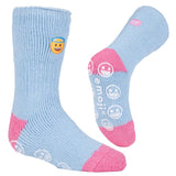 Kids HEAT HOLDERS Emoji Angel Face Slipper Socks