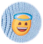 Kids Emoji Angel Face Heat Holders Slipper Socks 2 Sizes