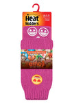 Kids HEAT HOLDERS Emoji Heart Face  Slipper Socks
