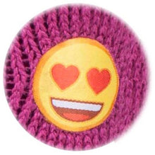 Load image into Gallery viewer, Kids Emoji Heart Face Heat Holders Slipper Socks 2 Sizes