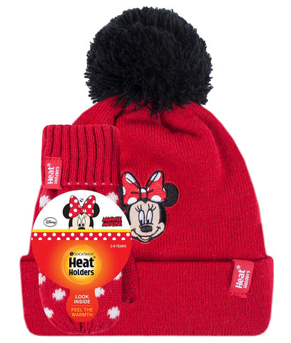 Kids Licensed MINNIE MOUSE Hat and Mittens Age 3-6 Years